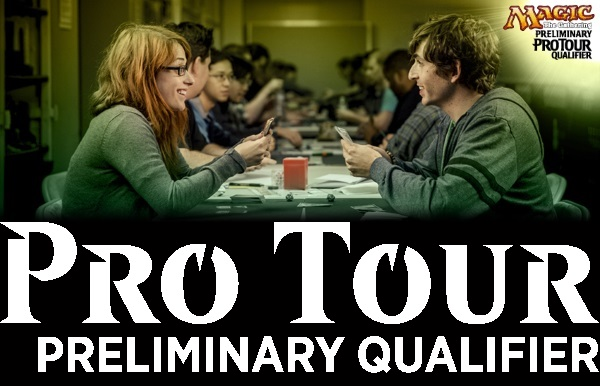 Combined image of Magic The Gathering players and the new Pro Tour Preliminary Qualifier logo used for the Magic Preliminary Pro Tour Qualifier #1 Of 2019