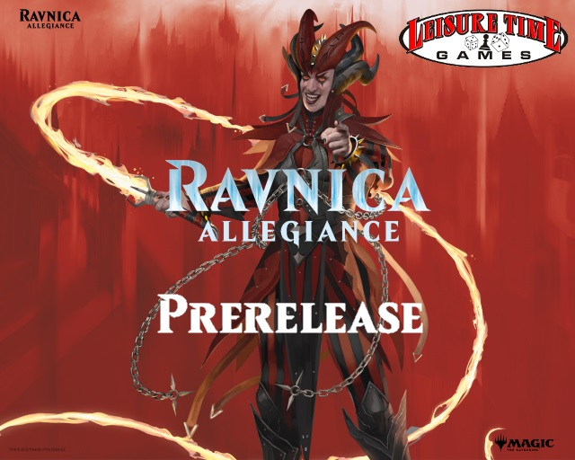 Image used for the Ravnica Allegiance Prerelease Weekend at Leisure Time Games