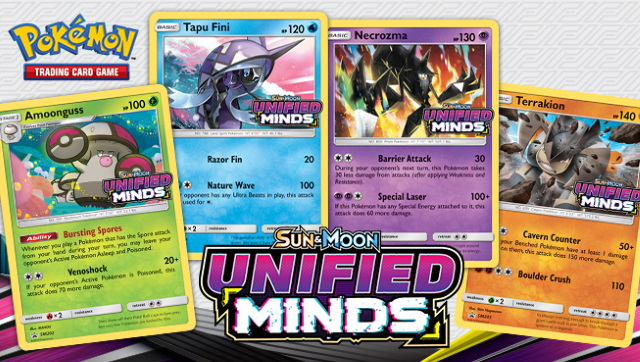 Image of the promo cards for players at the Pokemon Sun and Moon Unified Minds Prerelease at Leisure Time Games