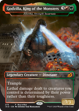 Godzilla Promo Card for the Ikoria Lair Of Behemoths Buy A Box Promotion